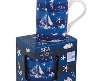 1X vintage porcelain mug, coffee pot, mug maritime motifs*