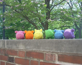 Crocheted Plush Hungry Hungry Hippo(s)