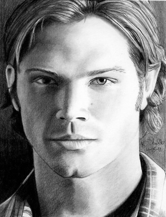 Sketchesofsam Sssh Critical Role Is: Drawing Of Jared Padalecki As Sam Winchester