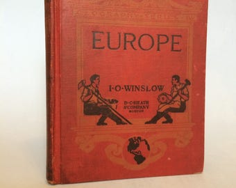 Europe IV by D. C. Heath & Company Vintage Geography 1921