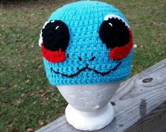 Squirtle inspired crochet hat