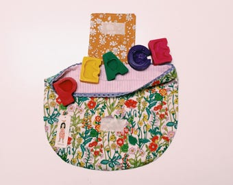 Collaboration Crayons & Liberty Storage Bag - Funny Little Things and Pollen Australia
