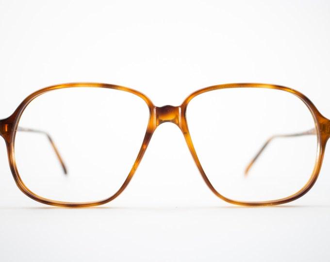 Vintage 80s Eyeglass Frame   Oversized Tortoiseshell Glasses   NOS 1980s Aviator Eyeglasses - Pisa 3703
