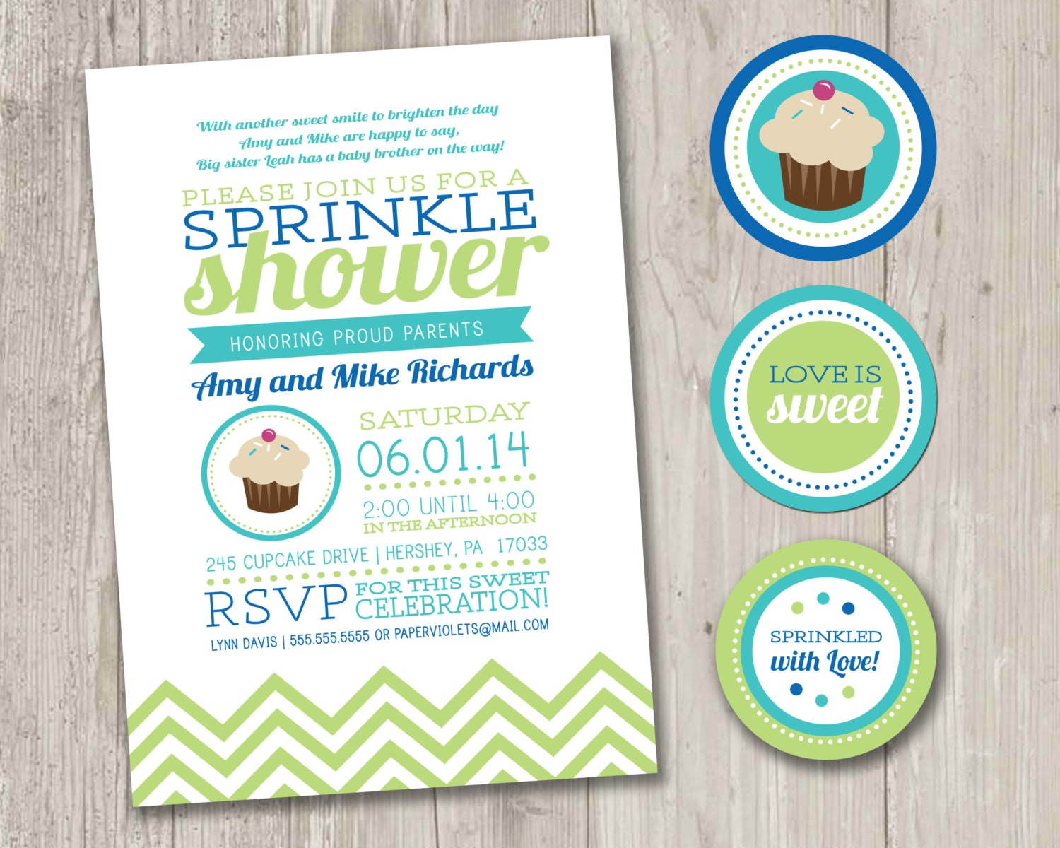 Baby Sprinkle Invitations Cupcake Baby Shower Invitations