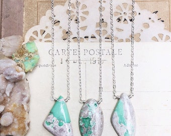 S e e k... Variscite Necklace, scapolite, peace, boho, heart chakra, Aura, sterling silver, layering, Variscite pendants FREE SHIPPING