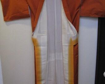 Vintage Kimono, Silk, Kihachijo, Orange, #10