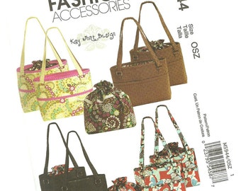 MCCALLS PATTERN M5944 fashion accessories, purse and handbag patterns, two designs, kay whitt design, one size fits all, new and uncut