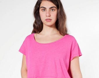 Lot of 7 small American Apparel Crop Tops for screen printing Pink