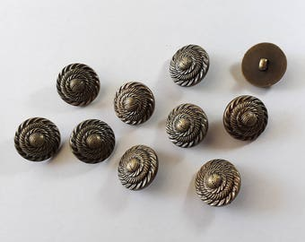 20x Antique Bronze Shank Vintage Hole Buttons 25x25mm