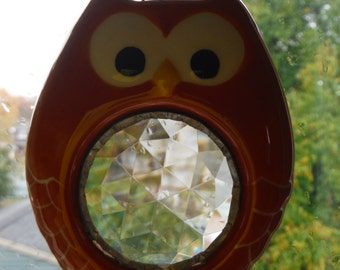 Owl with Crystal Center