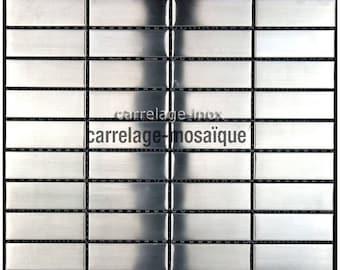 Stainless steel mosaic kitchen Rectangular 74