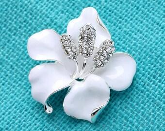 White flower brooch etsy hibiscus flower brooch destination beach wedding brooch bridal brooch white flower brooch mightylinksfo