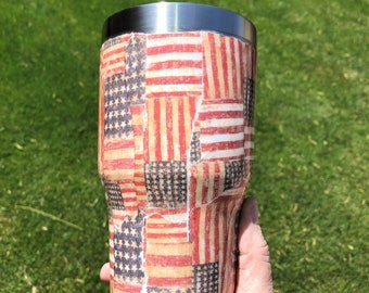 American Flag Stainless Steel Tumbler, Personalized Tumbler, Customized Tumbler, Patriotic, 4th of July, Gift for him, Gift for her