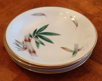 "Noritake ""Canton"" - Set of Four Dessert Bread Wedding Cake Plates"