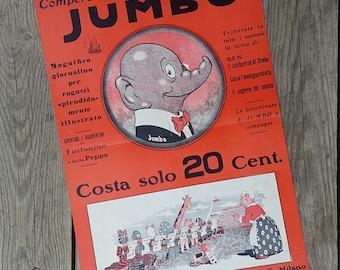 "The Journal weekly illustrated ""Jumbo"" poster for November 1933 vintage children"