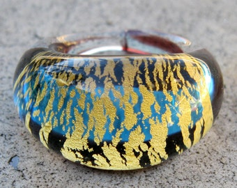 Tiger, Tiger Vintage Handmade Glass Ring