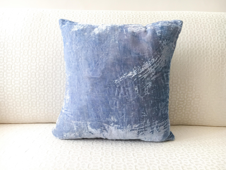Pastel Blue Velvet Pillow Cover throw pillow cover 20x20