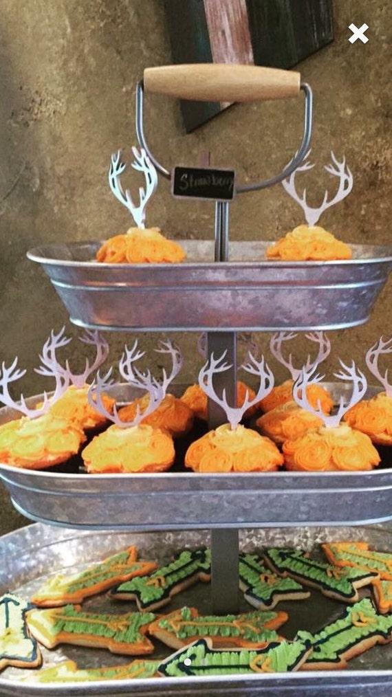 Antler Cupcake Topper, Deer Cupcake Topper, Deer Head Topper, Antler Cake Topper, Deer Head Cupcake Topper, Woodland Cupcake, Hunting Cake