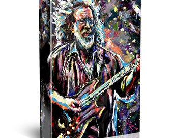 Jerry Garcia Painting, Grateful Dead Canvas, Jerry Art
