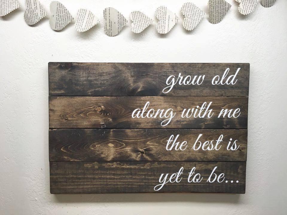 Alt mit mir ist das beste doch sein Holz Zitat Palette
