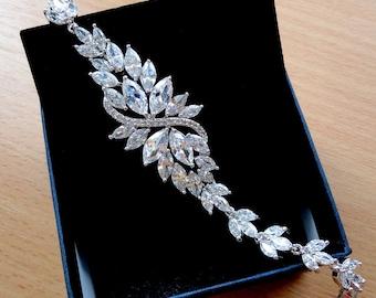 Bridal jewelry wedding bracelet bridal gift for wife Crystal Wedding jewelry Wedding gift Bridal bracelet Crystal bracelet Bride gift, jm3