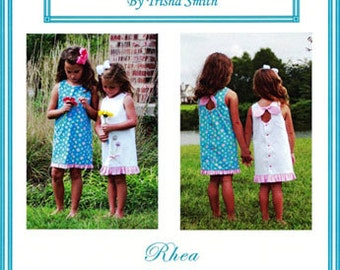 Rhea Pattern / Sundress pattern / Peek-A-Boo-Blooms / A-line dress / Key hole back/ Trisha's Treasures.
