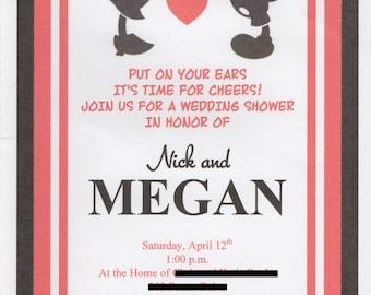 Disney wedding invitations | Etsy
