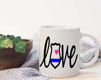 Police wife mug|coffe mug police|police gift