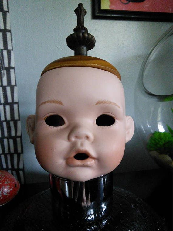 Weird Baby Doll Head Lamp Inspired By Tim Burton Stuff And