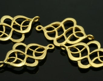 4 pcs 27 mm gold plated alloy finding charm pendant connector  638