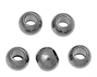 On Sale NOW 25%OFF 3mm Stainless Steel Crimp / Spacer Beads - Tarnish Resistant Silver - Z5122 - Qty 20