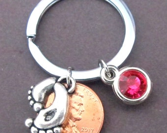 Baby Feet Keychain, Baby Shower Gift, New Mommy Gift, Gift for New Mom, New Mom Keychain, Expectant Mother, New Baby Gift, Free Shipping USA