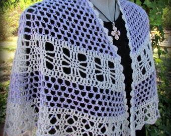 Pattern only - Crossroads Cape Shawl pattern crochet pattern shawlette scarf