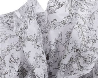 Tissue Paper, Large sheets, 20 x 30 inches. Toile, Victorian,   Farmhouse weddings, romantic,  black floral