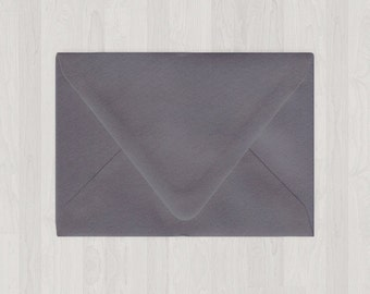 10 A6 Envelopes - Euro Flap - Gray, Black & Silver - DIY Invitations - Envelopes for Weddings and Other Events