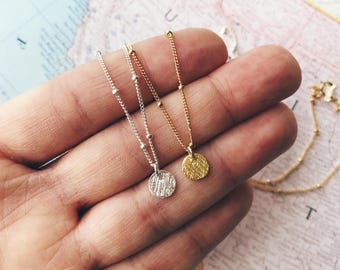 Gold Necklace, Gift for Her, Dainty Gold Necklace, Minimalist Necklace,Coin Necklace, Simple Gold Necklace, Gold Necklaces, Gold Circle