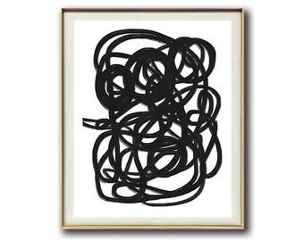 Minimalist Art Abstract #14 | Black and White | Modern Art