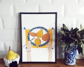 Print - Yummy Pears-