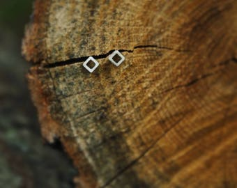 Anything But Square - Sterling Silver 4mm Stud Earrings