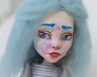 Watercolor OOAK Monster High Doll