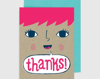 Thank You Card - Thanks Speech Bubble