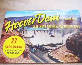 Vintage 1950's Booklet of the Hoover Dam and the Lake Mead National Recreation Area - Paper Collector's Estate find!
