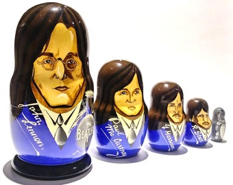 Beatles Nesting Dolls - Hand Painted