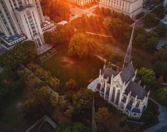 Heinz Chapel Sunset (University of Pittsburgh, Pitt, Pittsburgh Photography)