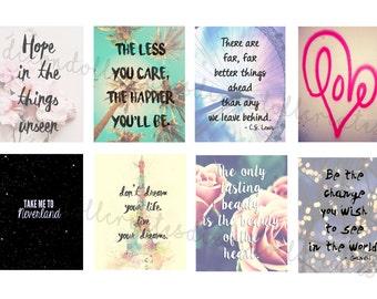 motivational planner stickers - erin condren life planner stickers - quote planner stickers - inspirational - quote - eclp stickers - SET G
