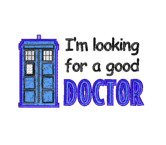 Buy3get1 Free Machine Embroidery Tardis Good Doctor Doctor