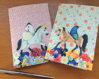 Two A6 Notebooks - Horses