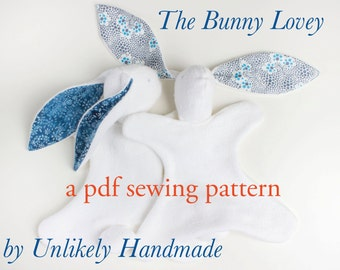 Bunny Lovey PDF Sewing Pattern | Security Blanket | Baby Lovey Toy | Blanket Toy | PDF Pattern | Easy Sewing Pattern