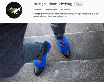Strange Island - Royal Blue Oxfords (US 7-12)