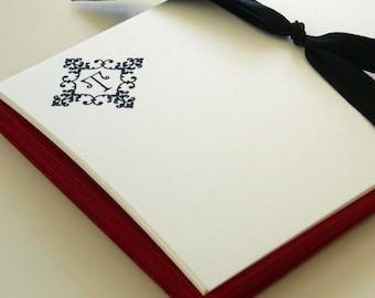 flights of fancy monogram notecards